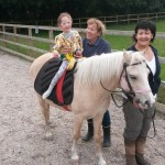 Leonie now on  bigger pony - very excited